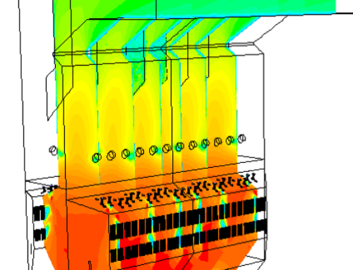 Operation optimization in an arch-fired boiler