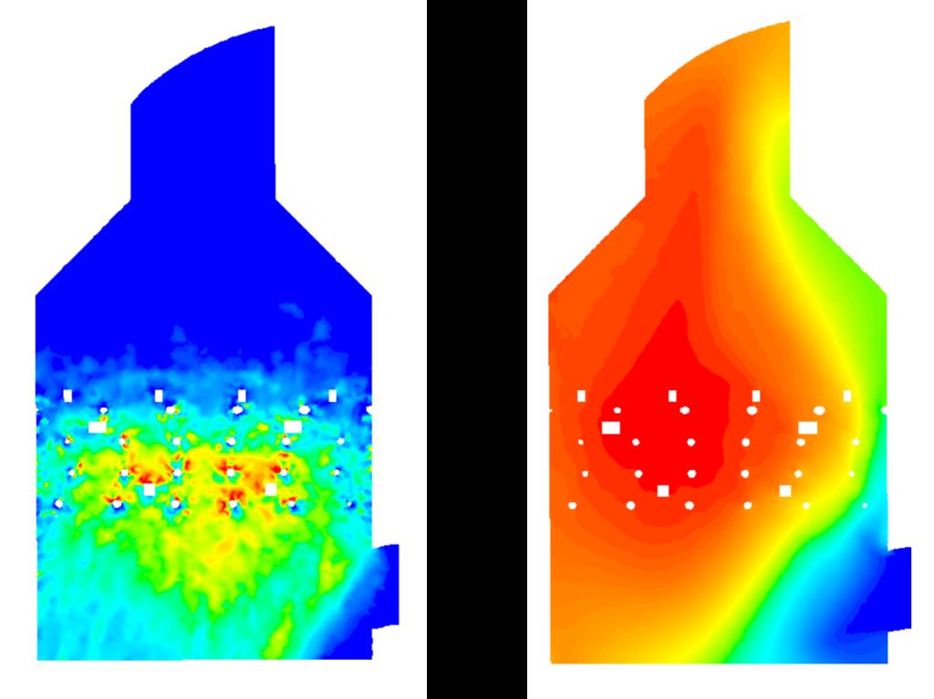 Fracción volumétrica de lechada y eficiencia de desulfuración