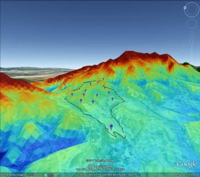 Mapa detallado simulación potencial eólico